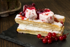 Mille-feuille with Berries - Food Photography