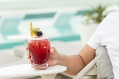 Drinking a Berry Cocktail by the Pool - Food & Lifestyle Photography